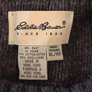 Eddie Bauer Sweaters - EDDIE BAUER Chunky Grandpa Patchwork Sweater XL